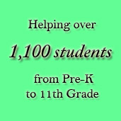 Helping over 1,100 students from Pre-K to 11th grade